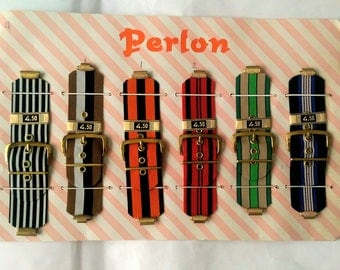 Perlon Funky Wide Canvas Watch Straps Bands Craft Supplies - Pick Your Favorites (5123)