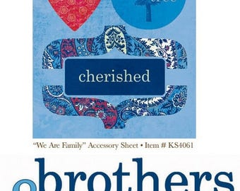 We are family brothers My Mind's Eye scrapbooking plank cut-outs, die-cuts & title