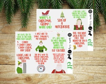 Elf Quotes Planner Stickers