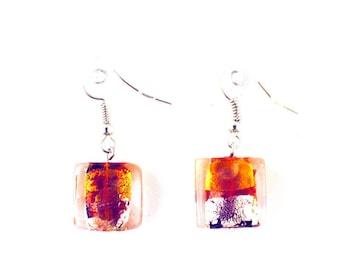 Earrings fantasies - beads - Modern Art (red)