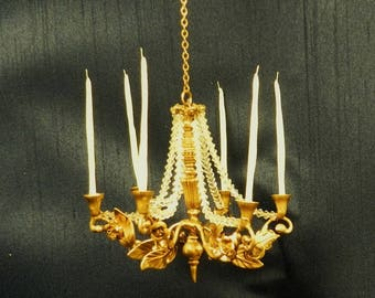 "Artisan Made 1:12 Scale Dollhouse Chandelier ""Amelia"""