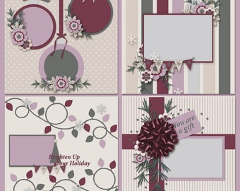 This Is Christmas Digital Scrapbooking Templates