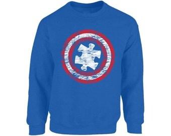 Autism Sweatshirt. Puzzle Autism Awareness Sweatshirt. Puzzle Autism Sweater.