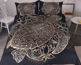 turtle bedding etsy. Black Bedroom Furniture Sets. Home Design Ideas
