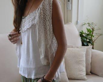 Crochet vest\ lycra and cotton Vest\boho vest