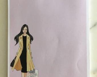 "Notepad ""She is so busy - Girlboss"""