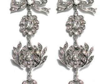 Carey Mulligan Inspired red carper Linear earrings