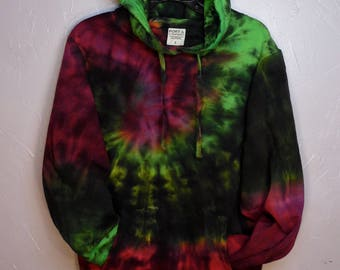 Tie Dye Hoodie, Green Lightning Charge/+ Adult Small