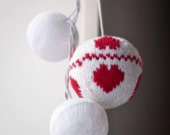 Christmas ornaments Christmas balls Knit balls Knit Christmas decorations Christmas ornament decor holiday gift x-mas tree balls kidssafe