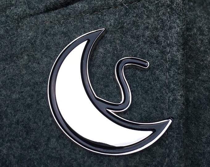 Silver/Luna (moon) Symbol Enamel Pin