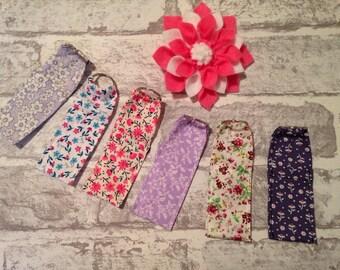 Chapstick keyring, chapstick keychain, fabric keychain, chapstick cosy, chapstick caddy, stocking filler, lipbalm holder, floral gift