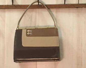 1960's vintage  brown gradation hand bag