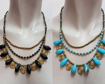 Handmade 3-Laps necklace