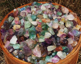 1000 Carat Lots of Unsearched Natural Flourite Rough + A Free Faceted Gemstone