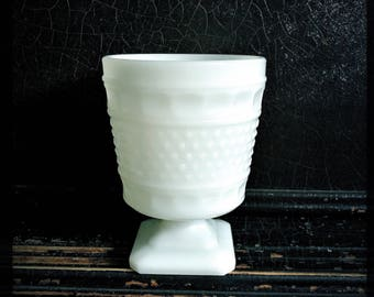 SALE - Vintage Milk Glass Vase | Vintage Planter | Candle Holder