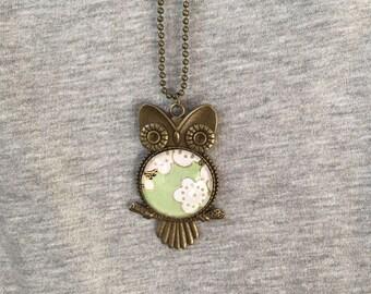 Necklace OWL pattern
