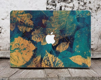 Leaves Flowers Computer Decal Leaves Macbook Skin Floral Laptop Stickers Macbook Pro Decal Macbook Air 11 Stickers Computer Sticker 052