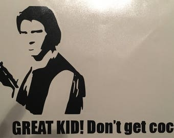 Han Solo Star Wars decal 5x9""