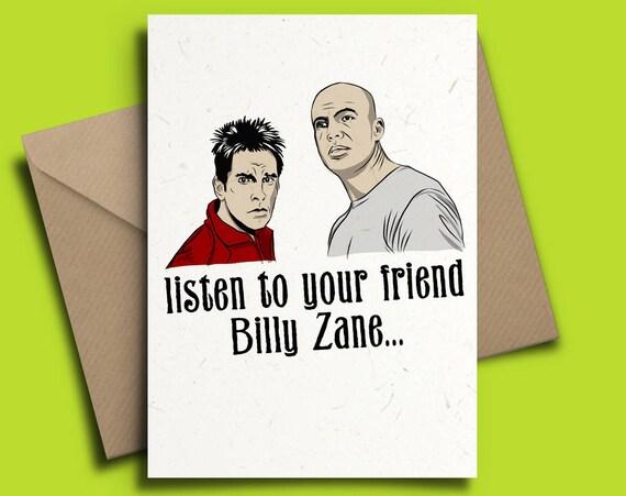 Zoolander personalised birthday card billy zane ben stiller like this item bookmarktalkfo Gallery