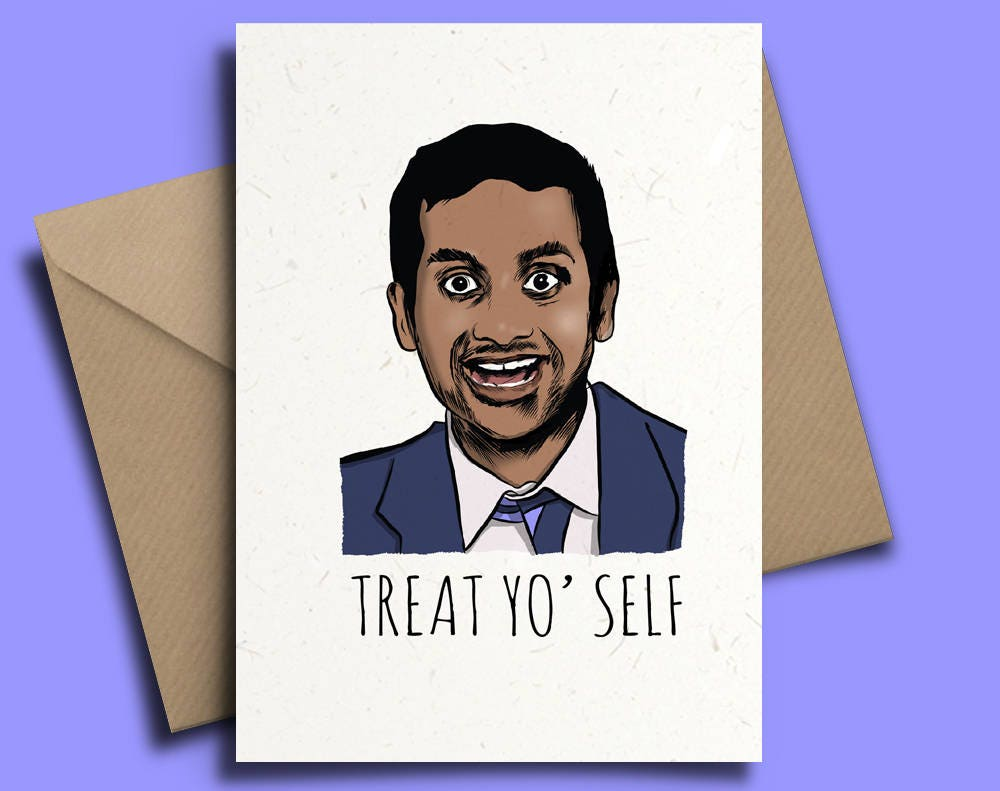 Tom Haverford Personalised Birthday Card Parks and Rec
