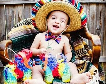 SALE!!! ***Sombrero Only***,Children's, sombrero, fiesta, party, boy, girl,prop, smash cake, outfit,mexican, mexico, serape, tela mexicana