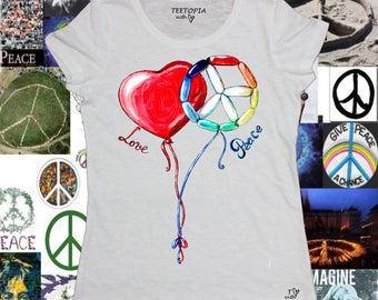 LOVE & PEACE - t-shirt donna