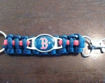 Boston Redsox Paracord keychain..Free Shipping!!