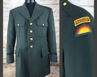 Mens Green Suit Jacket - Ranger Jacket - Military Jacket