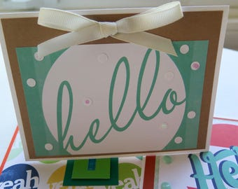 handmade greeting cards / variety pack / just because cards / just saying hi / adult birthday card / handmade card pack