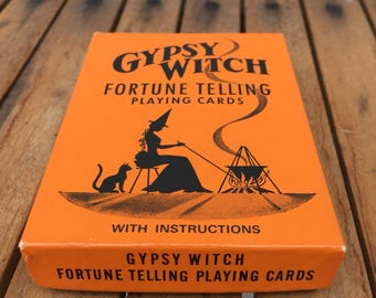 Vintage Retro Gypsy Witch playing cards Fortune Telling Cards 1940s
