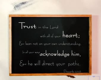 Trust in the Lord - Wooden Sign