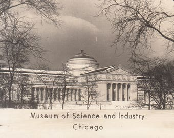 Chicago, Illinois Vintage Real Photograph Postcard - Museum of Science and Industry, 1893 World's Fair, RPPC