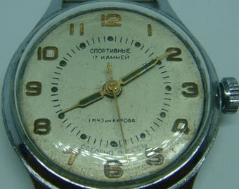 SOVIET watch, SPORTIVNIE soviet watch, ussr watch, military watch, russian watch, wrist watch, retro watch