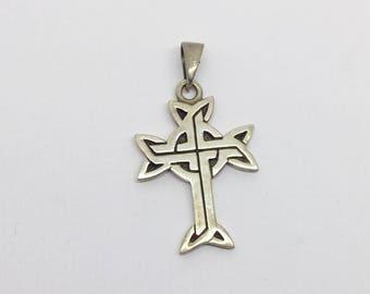 sterling silver celtic cross pendant #463