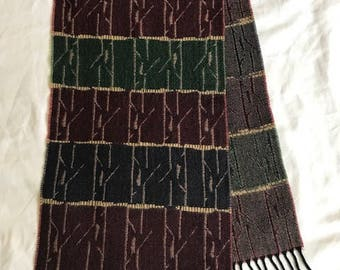 Vintage Made in France wool scarf