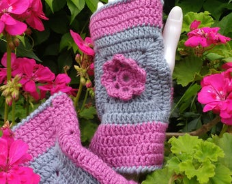 Crochet Gloves - fingerless gloves, ladies gloves
