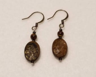 Brown Gemstone earrings