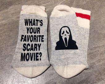 Whats Your Favorite Scary Movie? (Socks) Scream Themed