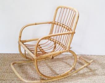 Rattan rocking chair child