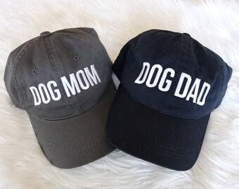 COMBO DOGMOM DOGDAD  |  Matching Hats, Dog Mom, Dog Dad, Dog Parents,