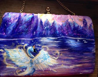 Swan Princess on the Lake- art purse