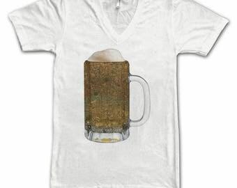 London Map Beer Mug Tee, Vintage City Maps Beer Mug Tees, Beer T-Shirt, Beer Thinkers, Beer Lovers, Cities, Beer Lover Tees