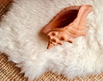Vintage - Terracotta - Shell - Conch - Planter