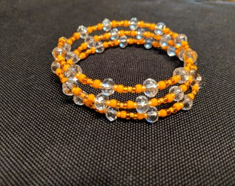 Multi-Layered Beaded Memory Wire Bracelet