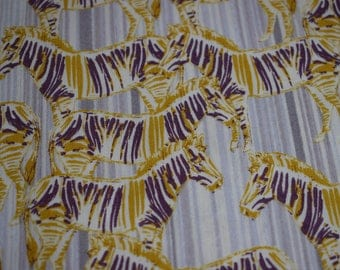 zebra fabric, Quilting fabric,  inprint Jane Makower -  44 inch wide, cotton fabric, sewing fabric, quilt fabric, fabric by the yard