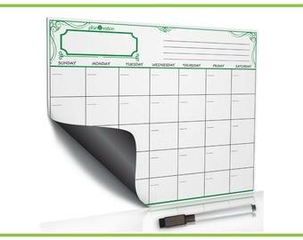 Dry Erase Calendar~Magnetic Calendar~Fridge Calendar~Magnetic Board~White Board~Whiteboard~Dry Erase Board