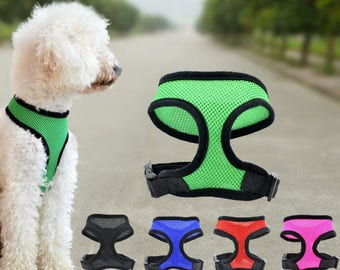 Puppy Dog Small Pet Mesh Harness, Adjustable and soft material Dog Sweater Vest Harness