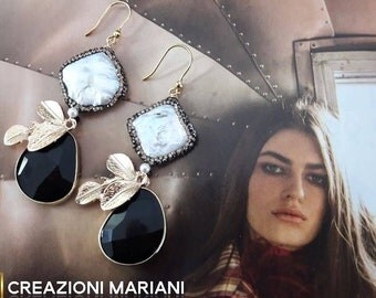 Earrings in Argento925 and pearls