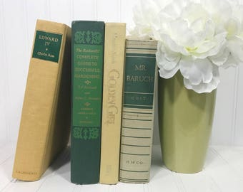 Yellow and Green Vintage Book Set