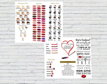 LipSense Brochure, SeneGence Brochure, Instant Download, Marketing Material, LipSense Color Char, ShadowSense Color Chart, Printable, flyer